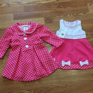 🐣 NWT Bonnie Baby Dress and Matching Coat